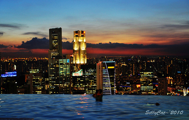 Infinity pool@Marina Bay Sands Singapore