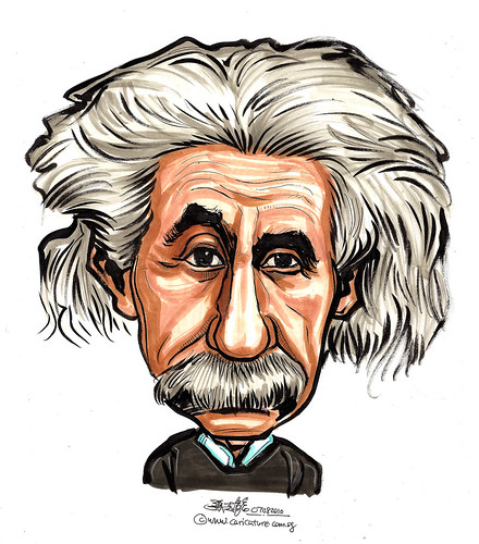 Albert Einstein caricature A4