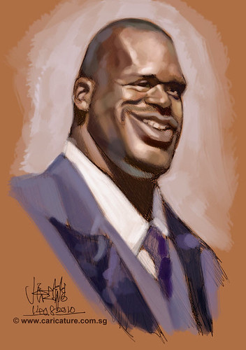 Schoolism Assignment 2 - digital caricature of Shaquille O'neil - 1 small