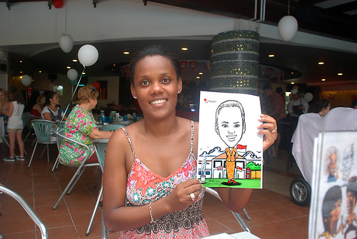 Caricature live sketching for The British Club and Singtel -2