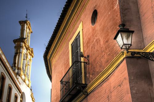 Seville red house. Casa roja de Sevilla