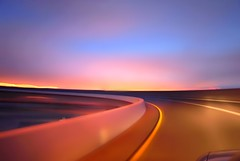 rottaback 3 (pbo31) Tags: california blue sunset summer sky 3 color northerncalifornia oakland nikon ramp colorful soft pastel smooth overpass august motionblur lane bayarea around eastbay d200 curve 80 emeryville alamedacounty westoakland 2010 roadway offramp macarthurmaze prescot mywinners rottaback