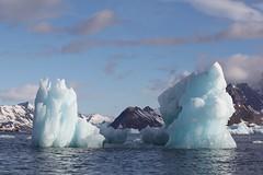 Blue ice peaks (Heaven`s Gate (John)) Tags: ocean cruise blue ice expedition topf25 norway landscape svalbard fjord spitsbergen vestre icebergs arcticcircle zodiacs polarstar 10faves 25faves johndalkin heavensgatejohn mywinners burgerbukta blueicepeaks