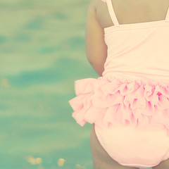 what summer means to me... ({life through the lens}) Tags: pink blue summer water ruffles bum explore babygirl frontpage thankyousomuch
