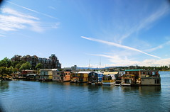 Floating houses, Victoria, BC, Canada