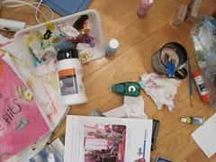 my sewing room floor