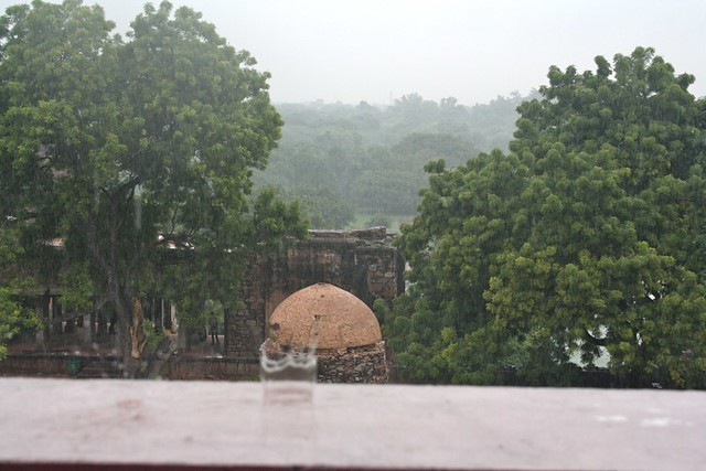 Rainy Day in Hauz Khas Village, Delhi