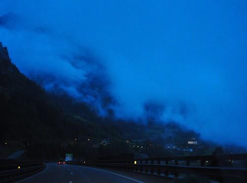 Туман в Горах Швейцарии