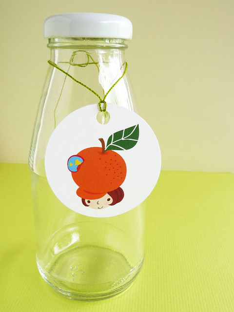 orange girl tags on MerryDay Etsy