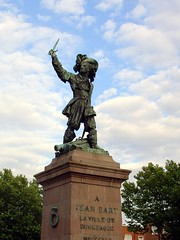 The Statue of Jean Bart, famous pirate