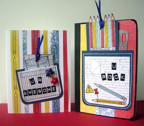 Note book and card (with pockets)