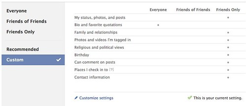 Facebook Privacy Settings 1