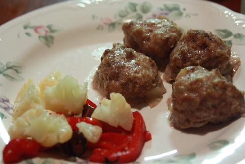 Meatballs with Cauliflower Salad