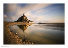 Mont St. Michel (Ian Bramham) Tags: longexposure france colour landscape photography dawn photo nikon bravo fineart montstmichel d700 ianbramham 1635vr leebigstopper