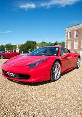 Ferrari 458 Italia (Adrian Brittlebank) Tags: red horse club hall nikon italia ferrari adrian nikkor scuderia sportscar prancing wimpole owners 458 brittlebank d300s 1685mm