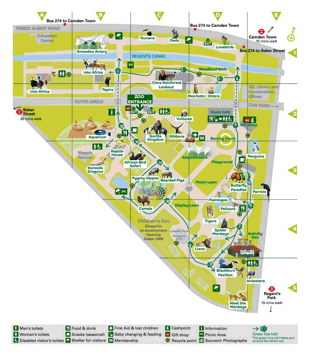 Зоопарк карта