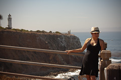 Point Vincent Lighthouse (katNovoa) Tags: lighthouse southbay beachhat pointvincent shortblackdress suzielara
