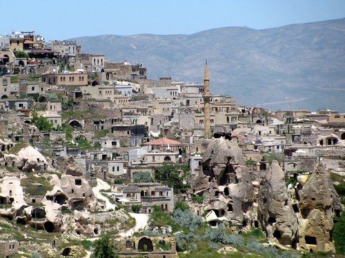 Cappadocia Turkey Village of Old and New Cave Houses