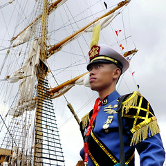 Sailor of the Dewaruci tall ship by B?n