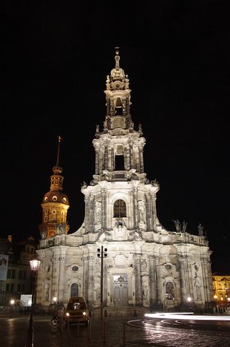 Hofkirche de noche