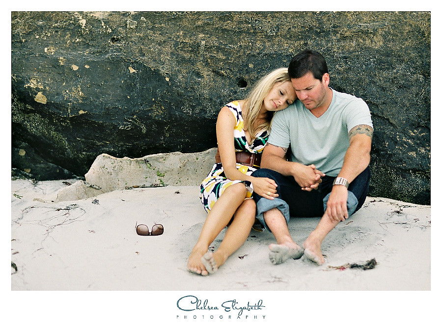 san diego beach cliffs engagement session