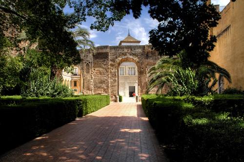 Seville. Reales Alcazares entrance. Sevilla. Entrada a los Reales Alcazares.