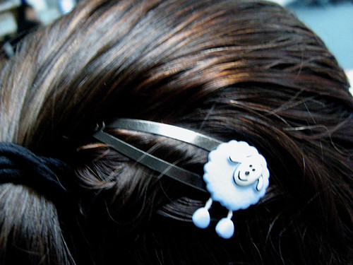 Sheep hair clip
