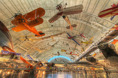 Indoor Aerobatics (magnetic lobster) Tags: washingtondc smithsonian districtofcolumbia interior aircraft airplanes hangar wideangle indoors hdr nationalairandspacemuseum stevenfudvarhazycenter washingtondullesinternationalairport sterlingvirginia