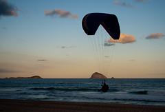 Paraglider (MartonDvn) Tags: ocean sunset sea brazil beach riodejaneiro flying silhouete paraglide saoconrado