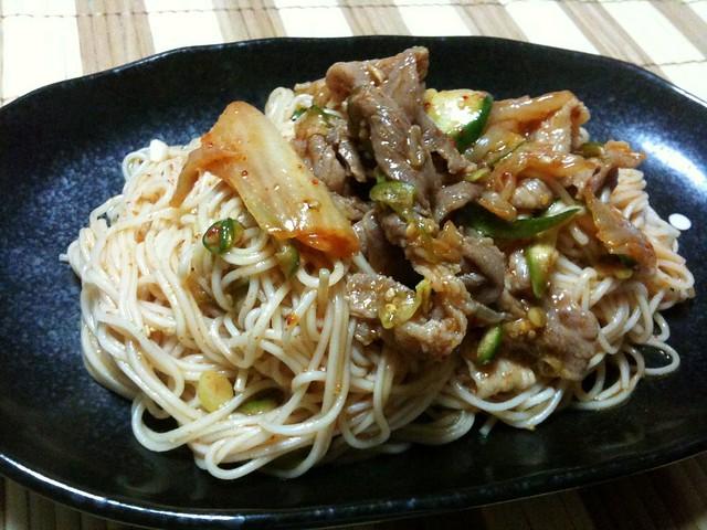 ビビン麺的素麺が美味い!男子ごはんレシピより!