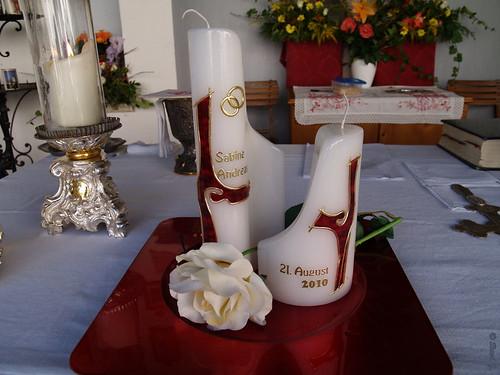 Kirche Altar Hochzeitskerze P8206033