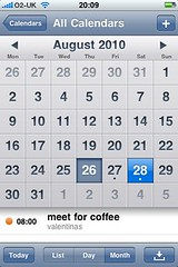 Hotmail EAS on iPhone calendar