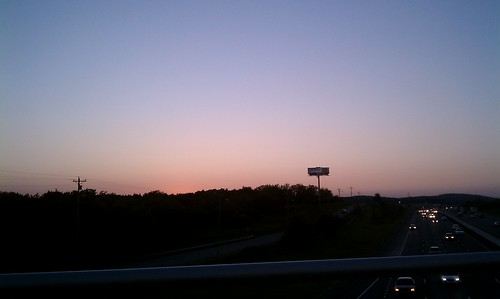 Sunset on I-24