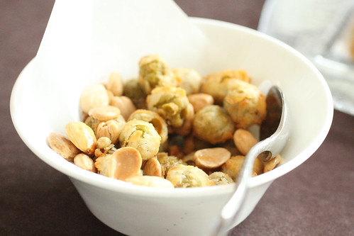 fried olives and marcona almonds
