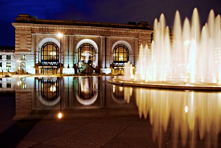 The fountain at Union Station