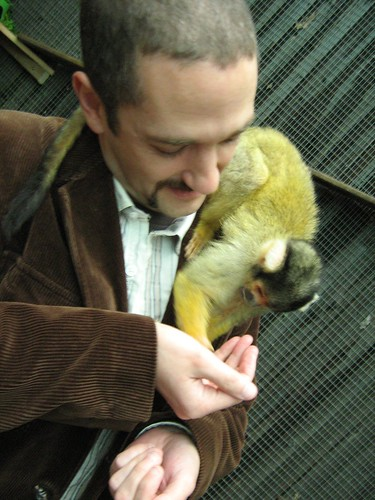 kiki and the squirrel monkey