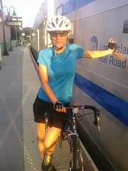 Taking a LIRR train back home after 69 miles (111 km) ride (Tatyana Kildisheva) Tags: ny newyork cycling li trainstation biking bikeride lirr portjefferson longislandrailroad palmpre manhattantoportjeffersonbikeride