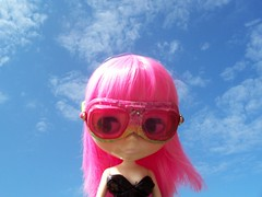 Candy in her Goggles!