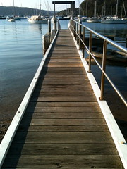 Salt Pan Wharf (travellingcharl) Tags: sydney australia wharf pittwater iphone saltpan northernbeaches