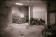 Day 168: Construction Under My Block (gingerbreadtot) Tags: bw film 35mm construction nikon kodak 135 nikkor tmax400 ais 118 35mmf14