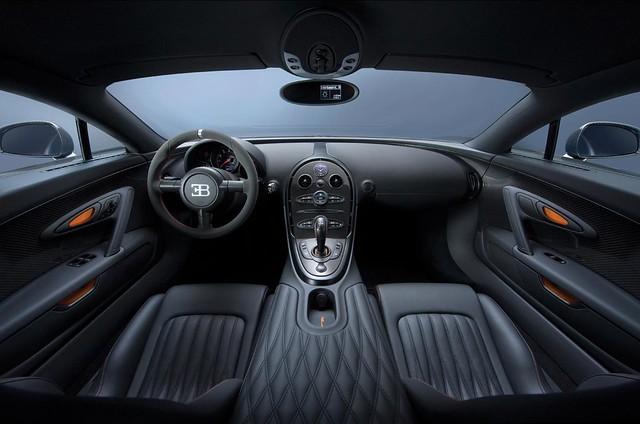 Bugatti Veyron Super Sport interior cuero negro
