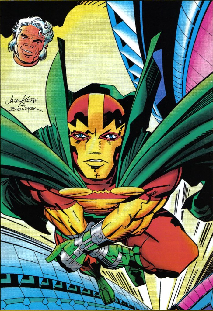 Mister Miracle Jack Kirby color cover to JK Collector 21 inked by Bob Wiacek