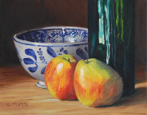 20100728 Forelle Pears Bottle and Bowl 8x10