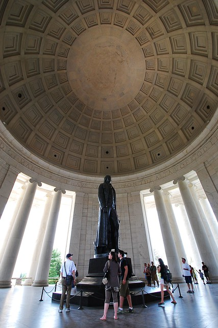 The Thomas Jefferson memorial, in a wide angle
