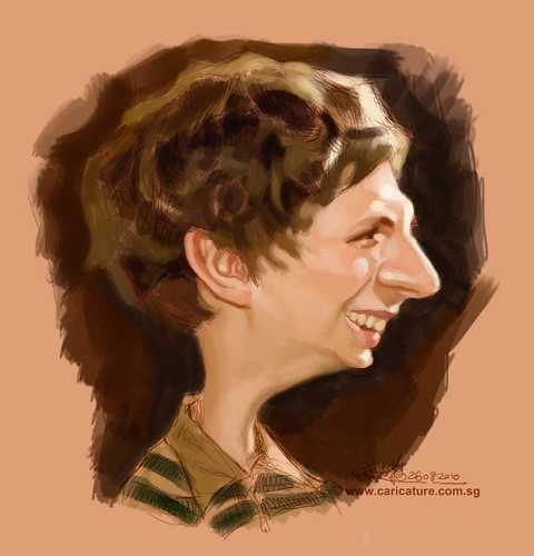 digital caricature of Michael Cera - 1 small