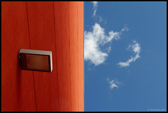 wall, light and sky (Jon Downs) Tags: light red sky orange cloud abstract color colour art colors wall clouds canon downs eos photo jon flickr artist colours image picture pic minimal photograph 7d portfolio platinumheartaward vanagram jondowns