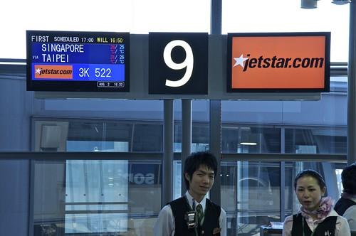 Boarding JetStar