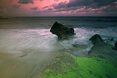 Dusk at Seseh Beach (Helminadia Ranford(New York)) Tags: sunset bali seascape beach nature indonesia rocks dusk seseh