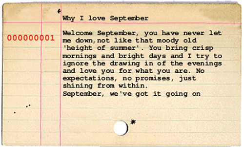 september index card