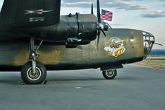 Consolidated Vultee RLB-30/B-24A (skyhawkpc) Tags: 2010coloradosportinternationalairshow rockymountainmetropolitanairport kbjc bjc jeffco rlb30 nikon consolidatedvultee d90 commemorativeairforce n24927 ol927 cn18 redwhiteloud b24a liberator american flag noseart warbird aircraft airplane aviation heavy bomber